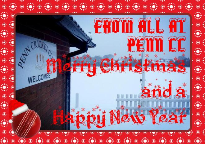Merry Christmas and a Happy New Year from all at Penn Cricket Club