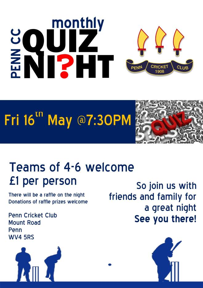 May Quiz Night